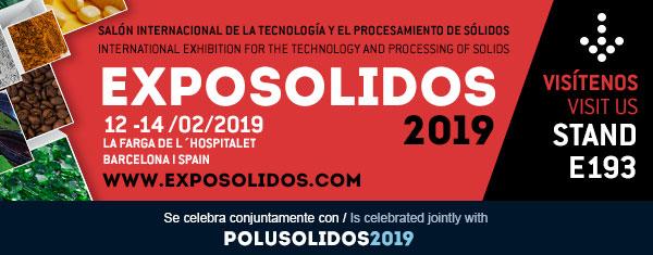Cramix asistirá a EXPOSOLIDOS 2019, el Salón Internacional de la Tecnología y el Procesamiento de Sólidos