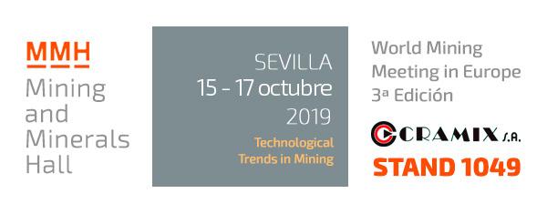 Cramix asistirá a la feria de la minería MMH que tendrá lugar en Sevilla durante los días 15 y 17 de Octubre.