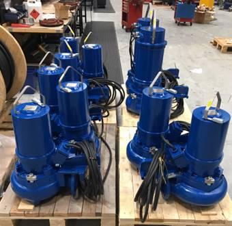 Cramix está a punto de suministrar 12 bombas sumergibles DAN PUMPS a una importante ingeniería de tratamiento de agua