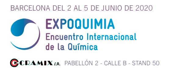 Cramix asistirá a la 19ª edicion de Expoquimia, feria internacional de química que tendrá lugar en Barcelona del 2 al 5 de junio