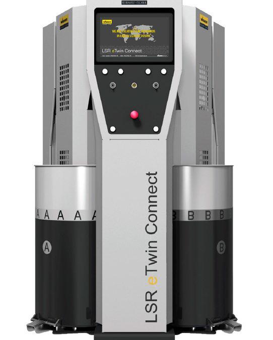 Conoce el LSR eTwin Connect de Reinhardt-Technik, la nueva generación de sistemas de dosificación y mezcla para silicona líquida