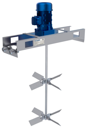 Cramix acaba de suministrar 20 agitadores FLUIDMIX serie VTA a una importante fabricante de productos químicos