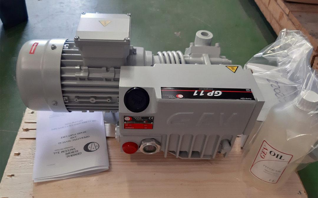 Cramix presenta la nueva bomba de vacío modelo GP11 del fabricante GEV