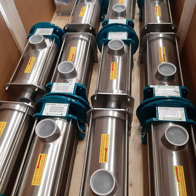 Cramix acaba de suministrar 30 bombas de tornillo helicoidal Sydex