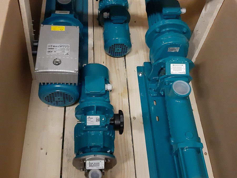 Cramix acaba de suministrar un pedido de bombas de tornillo helicoidal marca Sydex a una importante ingeniería de tratamiento de aguas